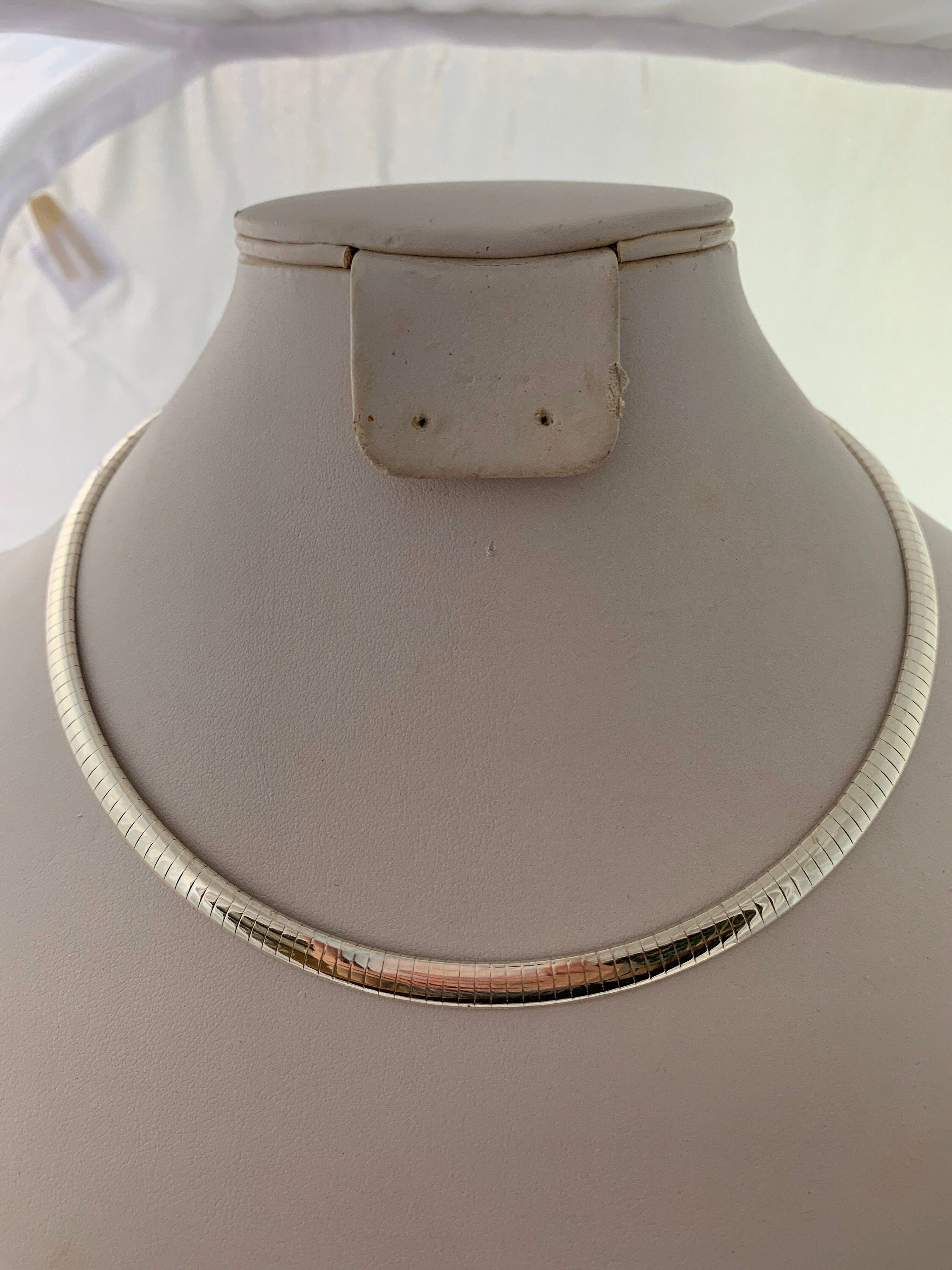 Beautiful Milor Omega 925 Sterling Silver Chain Necklace Made Etsy Sterling Silver Chain Necklace 925 Sterling Silver Chain 925 Sterling Silver