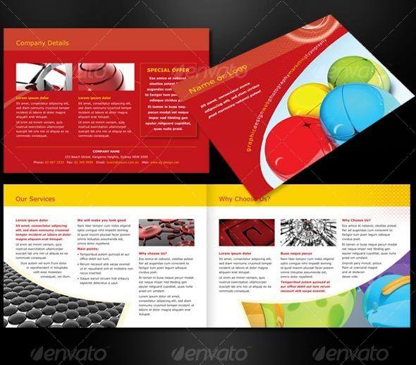 A Landscape Page Brochure Brochures Corporate Brochure And - 4 page brochure template