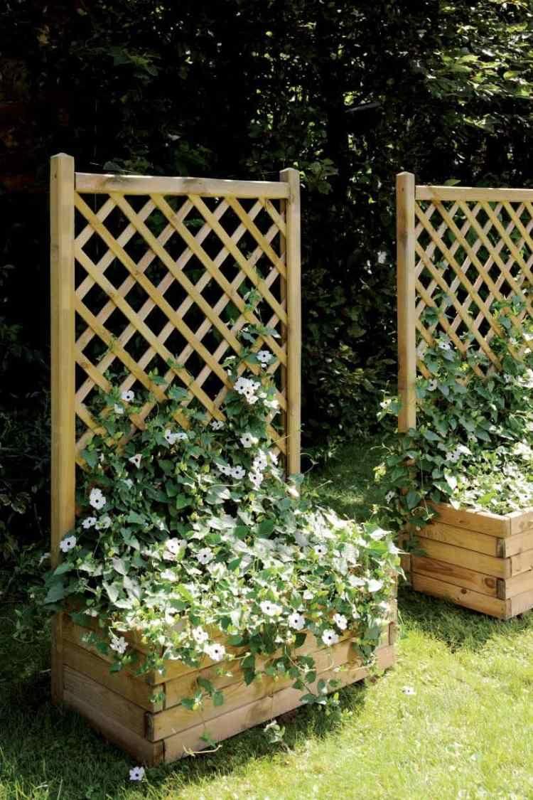 Fabriquer Treillis Bois Pour Plantes Grimpantes bac à fleurs en bois à faire soi-même - 52 bacs à fleurs diy