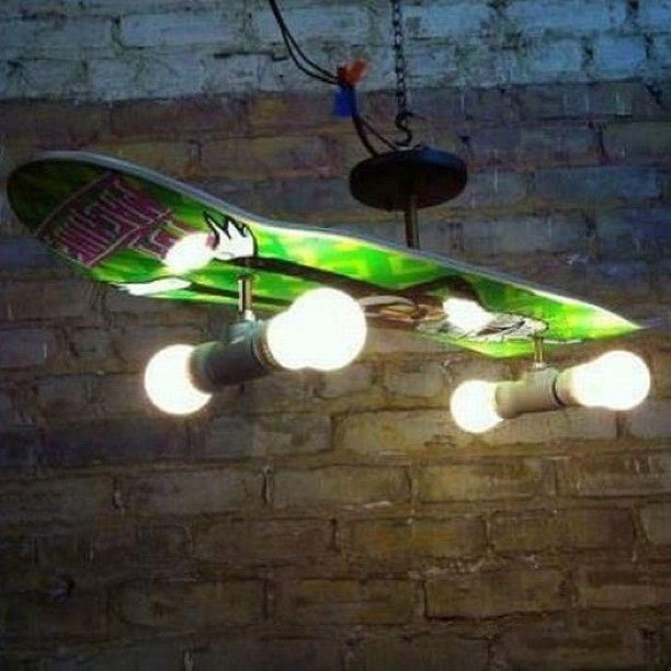 Lampen Jugendzimmer | Boredom Led To This Diy Skateboard Chandelier Lampen Alter Und