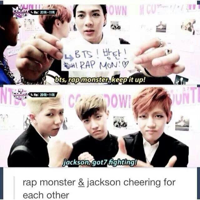 This Is Sooo Cute Jackson Got7 Rap Monster J Hope V It S Not Really Funny But It S Cute 33 Bts Got7 Kpop Funny