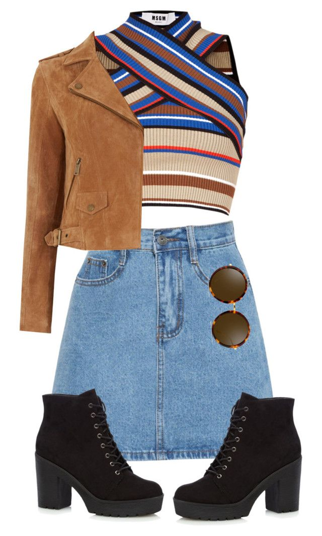 """""""Untitled #124"""" by emmeleialouca ❤ liked on Polyvore featuring MSGM, Oasis and Linda Farrow"""