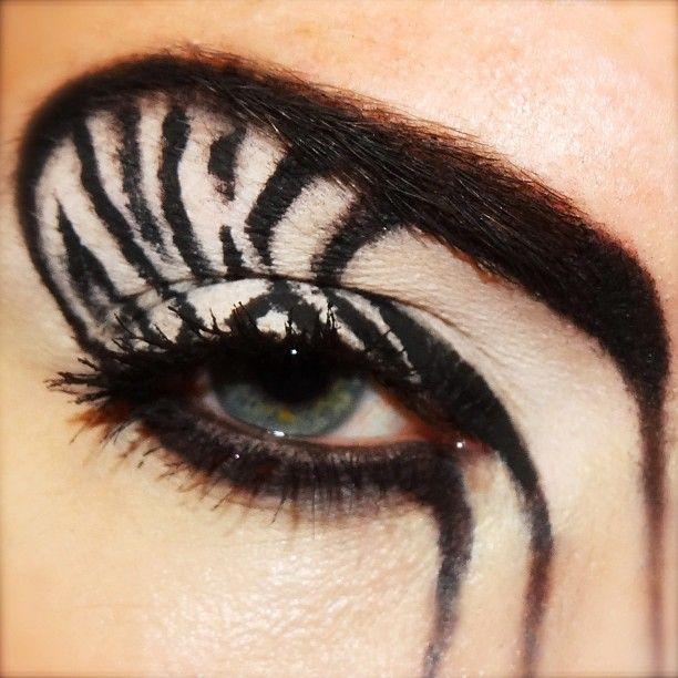 Sammylovesfossas Sammylovesfossas Zebra Eye Makeup Zebra Face