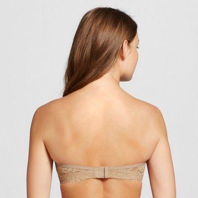 75f9b45d8a Women s Convertible Strapless Push-Up Bra - Xhilaration - Honey Beige 32AA