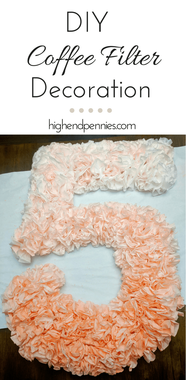DIY Ombre Party Number Decoration | highendpennies