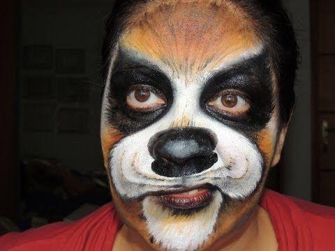Halloween Tutorial Puppy Dog Doovi Theater Makeup Pinterest