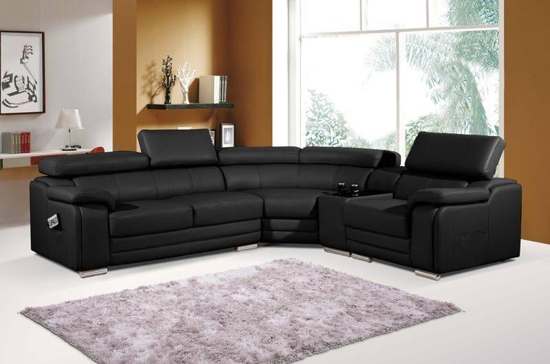 Mariano Furniture 6256 Black Sectional Bm6256 Blk Leather Corner Sofa Grey Leather Corner Sofa Sectional Sofa