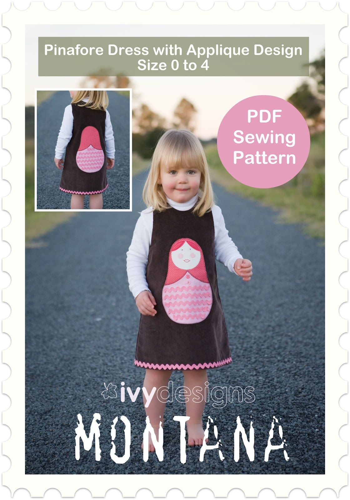 Free Patterns of Pinafore, Dress and Headscarf | Sewing DIY Projects ...