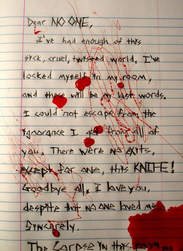 Suicide Note :(