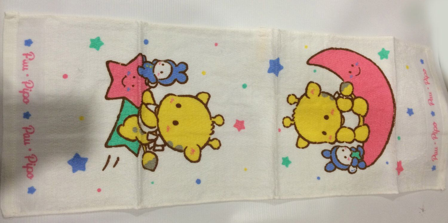 Vintage Sanrio Pau.Pipo towel made in Japan 1988 by TownOfMemories on Etsy https://www.etsy.com/listing/253574538/vintage-sanrio-paupipo-towel-made-in
