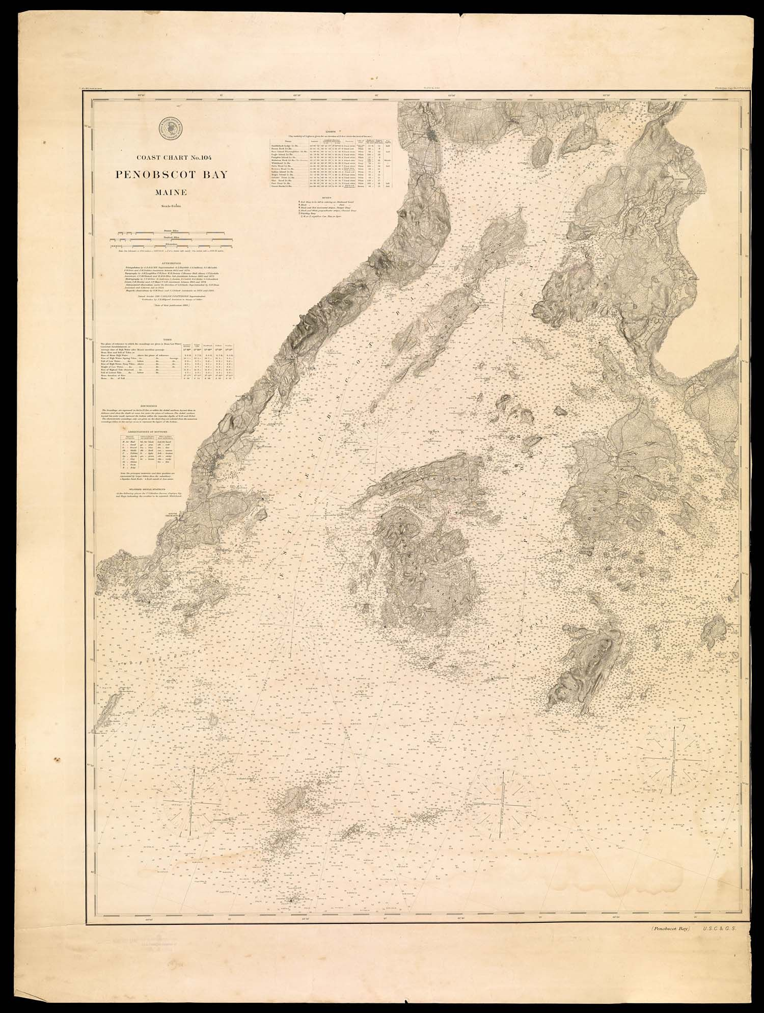 Section Seven Mapping Of Maine Osher Map Library Nautical Map Maine Map Penobscot