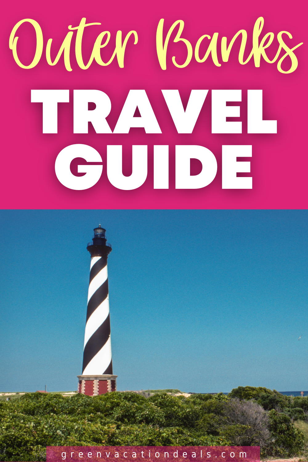 Outer Banks, North Carolina travel guide: fun activities (ghost tour, kayaking, etc), plus see how to save up to 67% off hotels in Kill Devils Hill, Hatteras, Kitty Hawk, etc. Excellent travel advice for this USA beach destination. #OuterBanks #NorthCarolina #NC #Carolina #CapeHatteras #OBX #traveldeals #travelsale #hoteldeals #hotelsale #travelhacks #KillDevilHills #KittyHawk #NagsHead #fish #kayaking