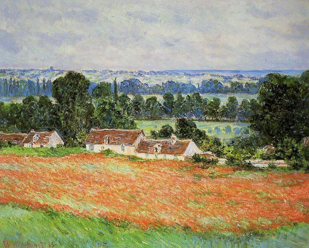 Champs de coquelicots à Giverny (C Monet - W 997)   Monet, Claude ...