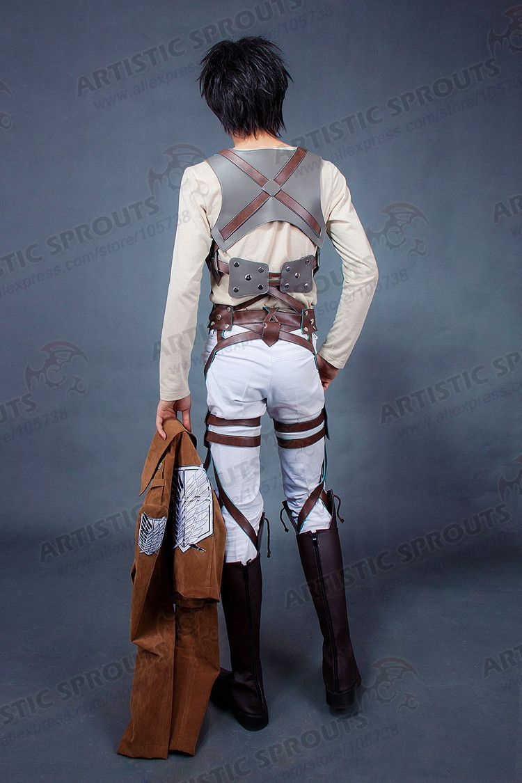 b30858436b07 Shingeki no Kyojin Attack on Titan Scouting Legion Survey corps Cosplay  Costume Eren Jaeger Levi RivailleBelt System-in Clothing from Novelty    Special Use ...