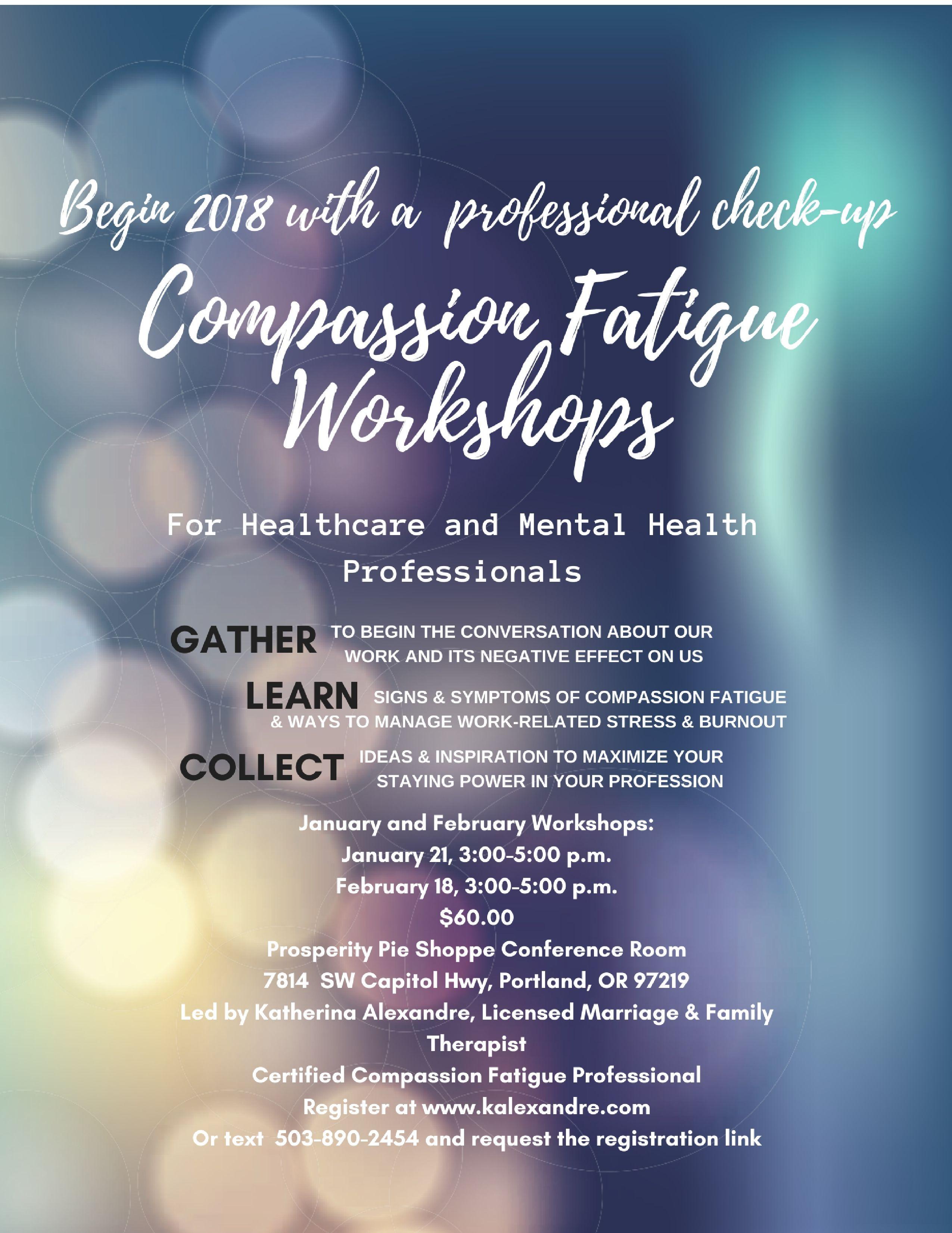 workshops for mental health professionals