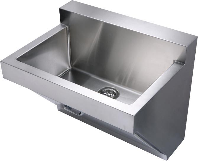 Whitehaus stainless steel wall mount commercial utility sink ...