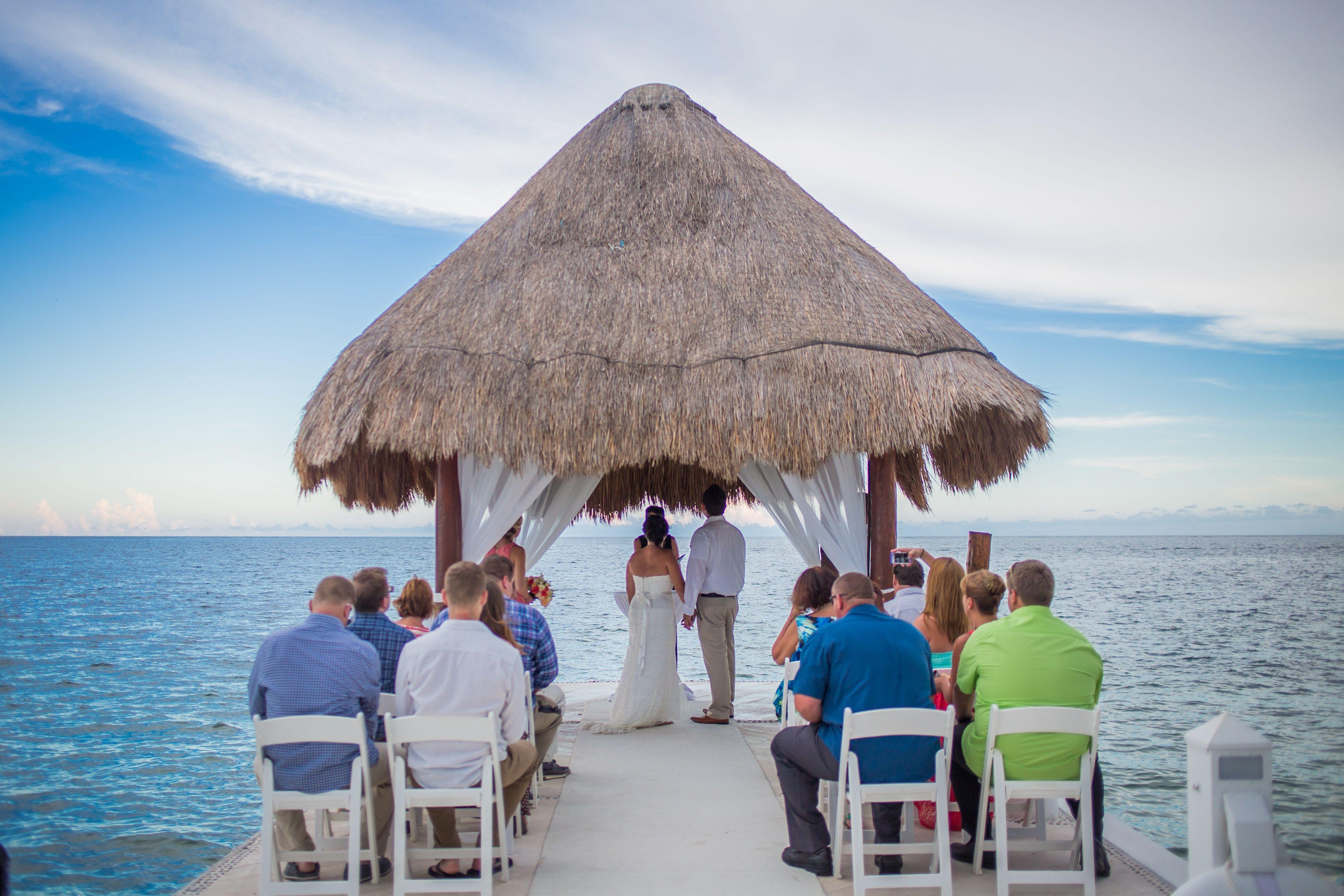 Small Destinationwedding On The Pier At Excellencerivieracancun Rivieramayaweddi Riviera Maya Weddings Dream Destination Wedding Excellence Riviera Cancun