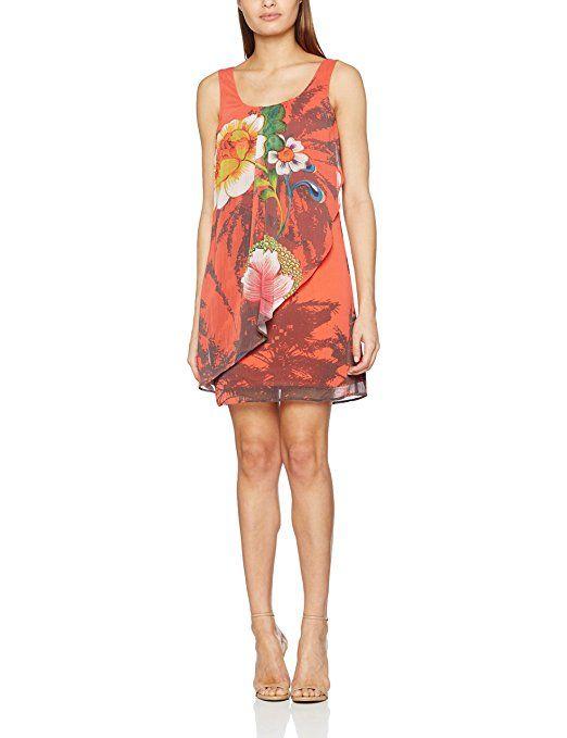 Desigual Damen Casual Kleider VEST_SHAYCK, Rot (Rojo Loft 3088), 44