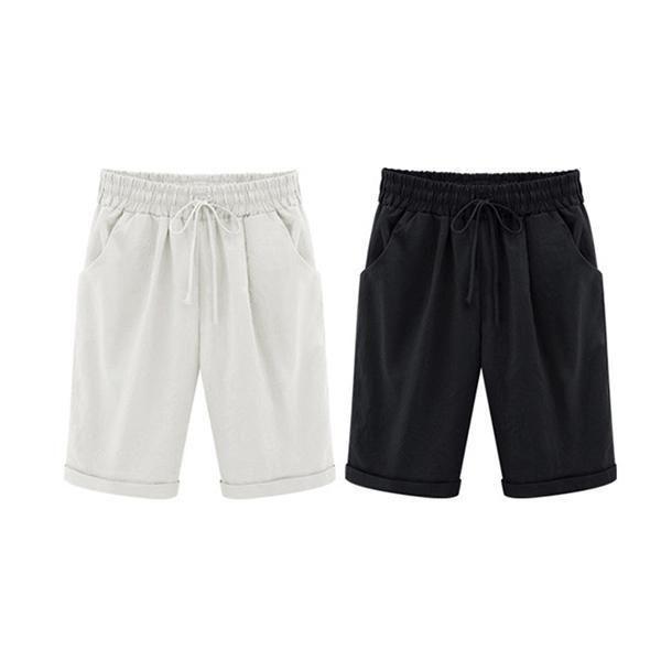 Summer Shorts Lace Up Elastic Waistband Loose Panties – judedress #shortslace