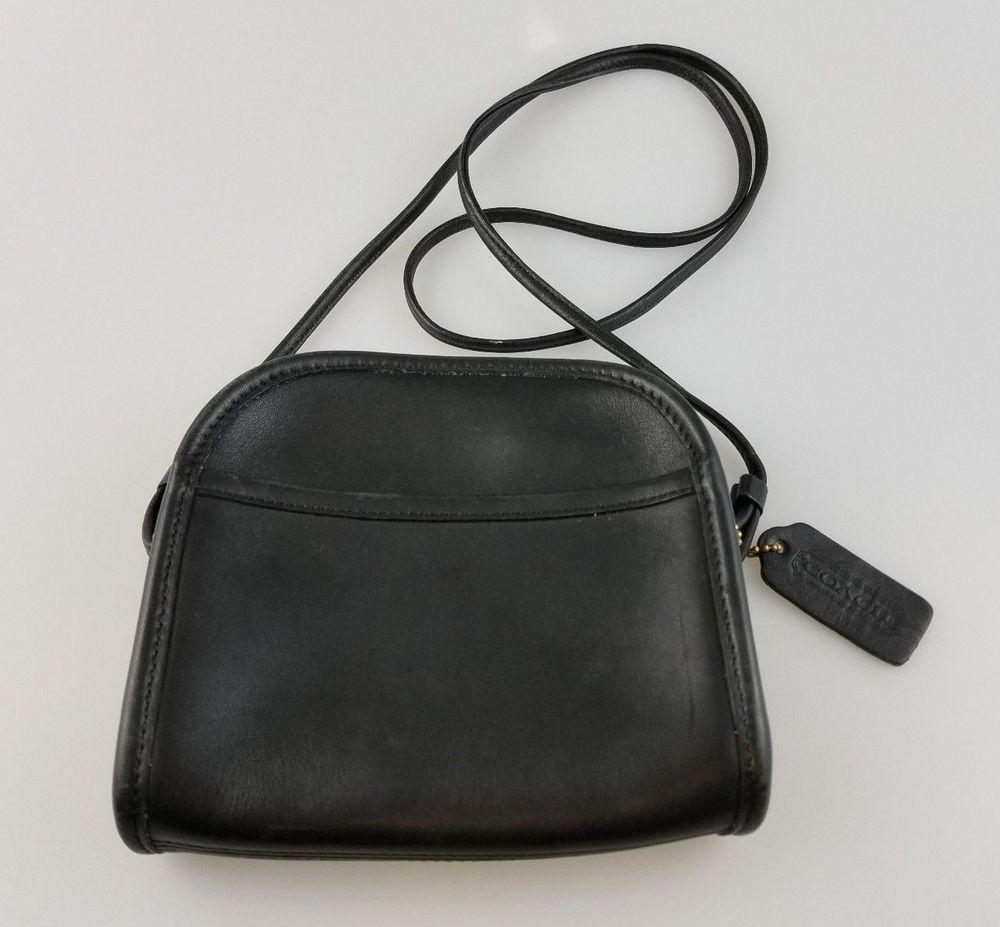 1d97f487e13 Details about Vintage Coach Wendie Purse Brown Leather Zipper ...