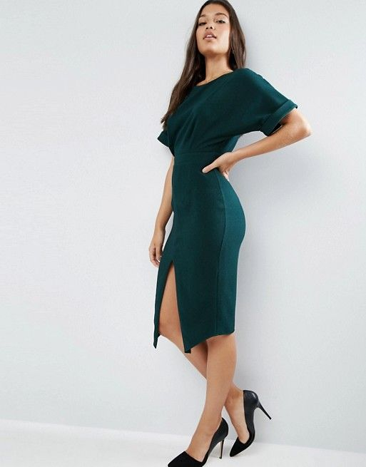 ASOS | ASOS Wiggle Dress with Split Front | Fashion | Pinterest ...
