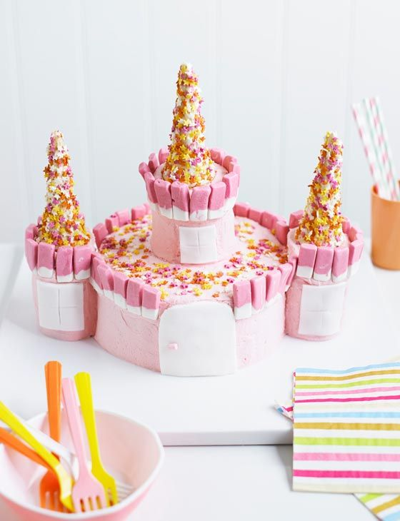 Princess Childrens Birthday Cake Recipe Fairy Castle For Little Girls Party Chocolate Ice Cream