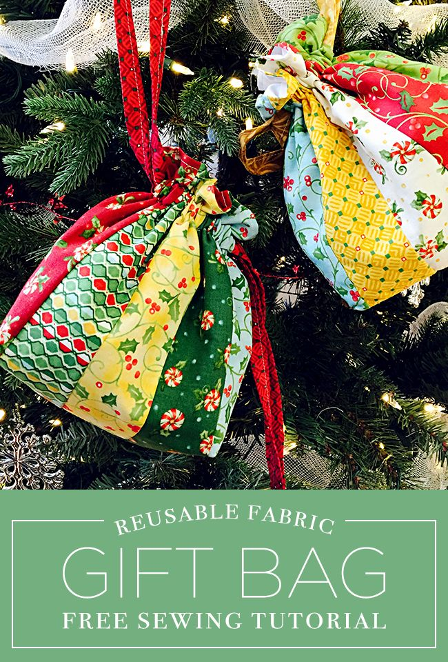 Make a Reusable Fabric Drawstring Gift Bag with this Free Tutorial ...
