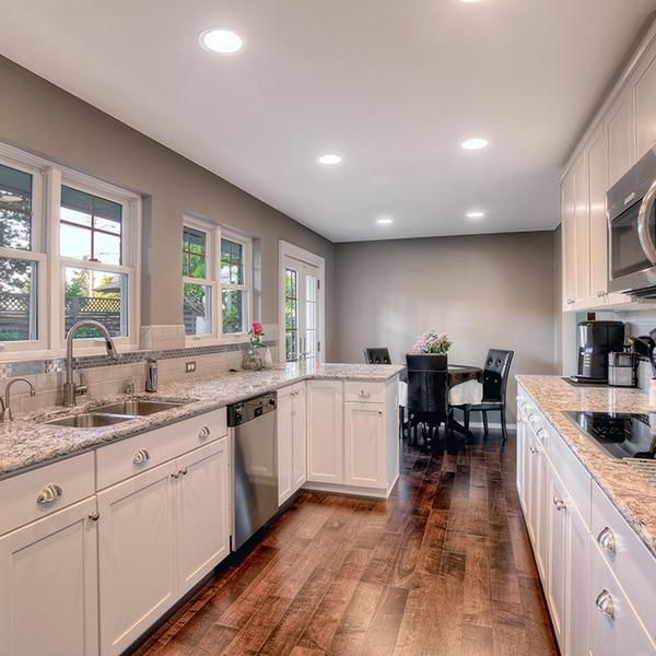 Galley Kitchen With French Doors: Kitchen Color Schemes: How To Avoid Kitschy Colors