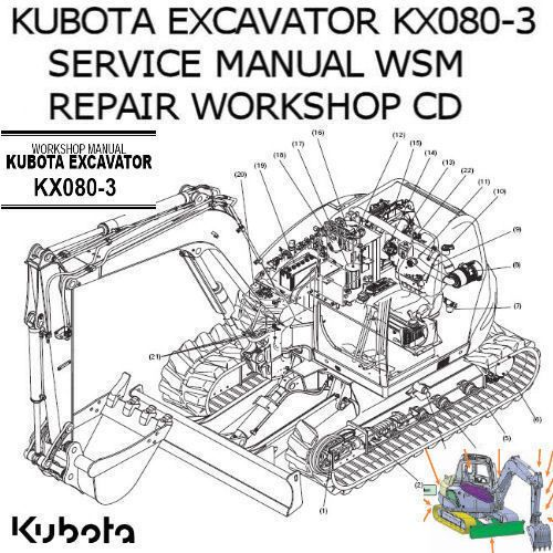 Kubota Excavator KX080-3 Service Manual WSM Repair