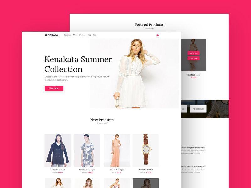 Kenakata Bootstrap Template Psd template free