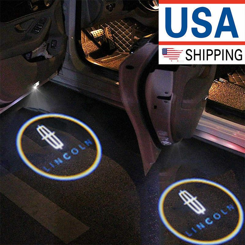 2x Wireless Ghost Shadow Projector Logo Courtesy LED Light Door Step for JAGUAR