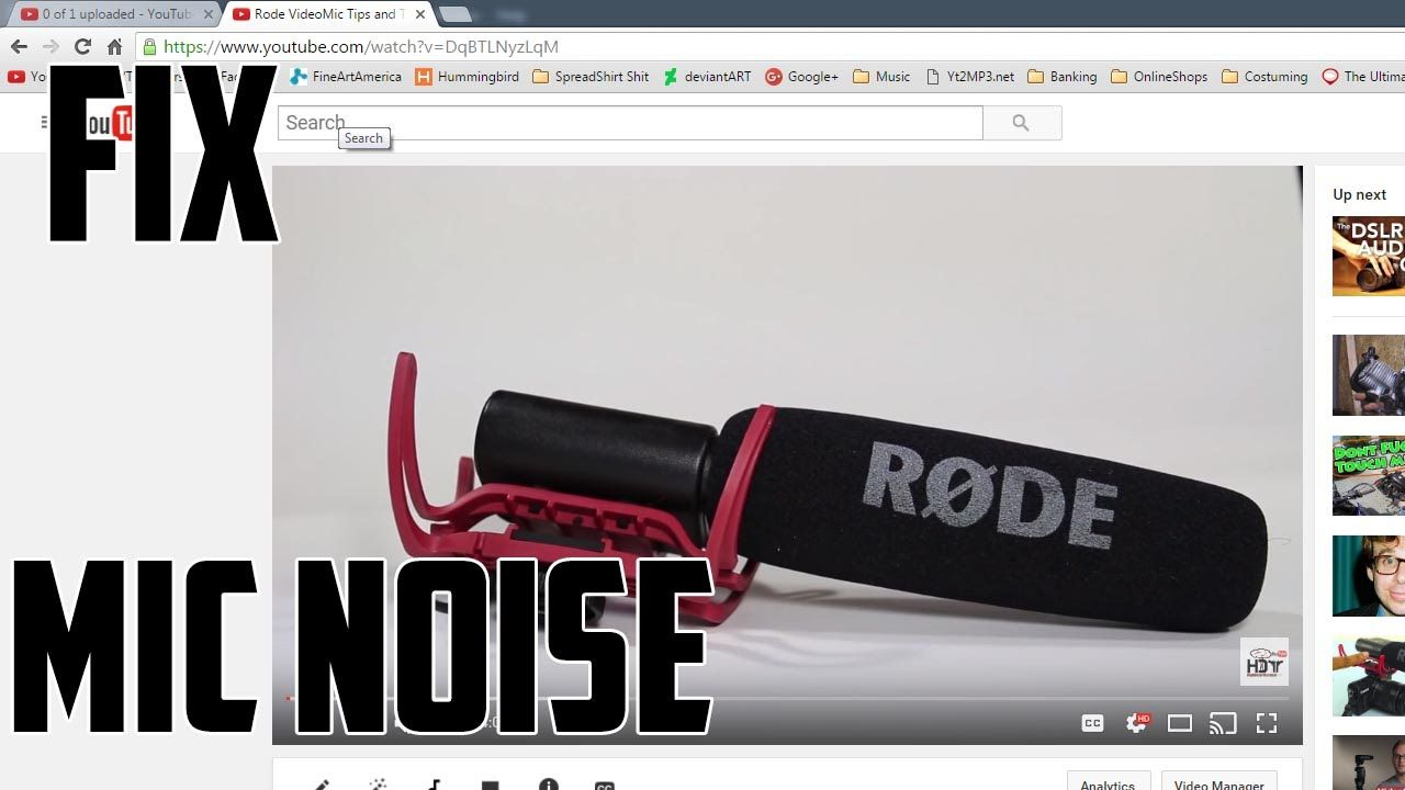 How to Remove Video Microphone Hissing Noise (white noise