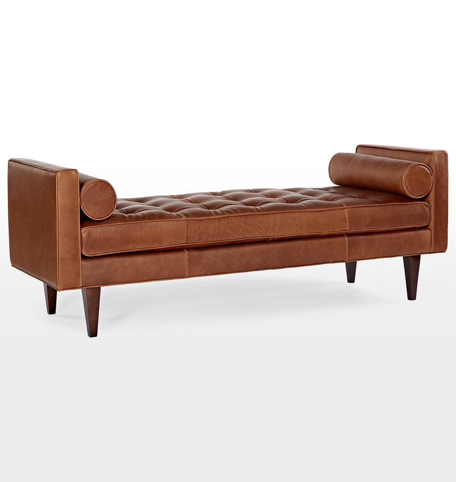 Leather Gift Ideas To Celebrate Your Third Wedding Anniversary Love This Bench From Rejuvenation A Wonderful Gift For Furniture Leather Bench Leather Daybed