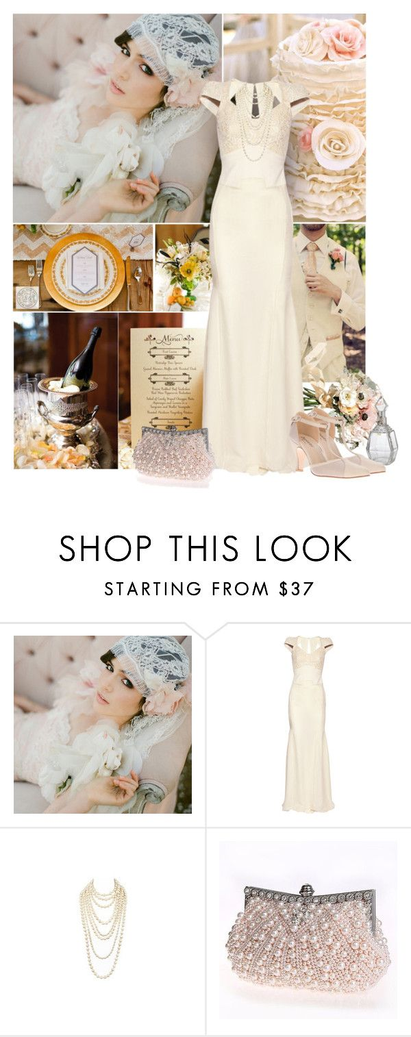 """""""gatsby wedding"""" by art-gives-me-life ❤ liked on Polyvore featuring Gatsby, Reception, Antonio Berardi, contestentry and weddingdaystyle"""