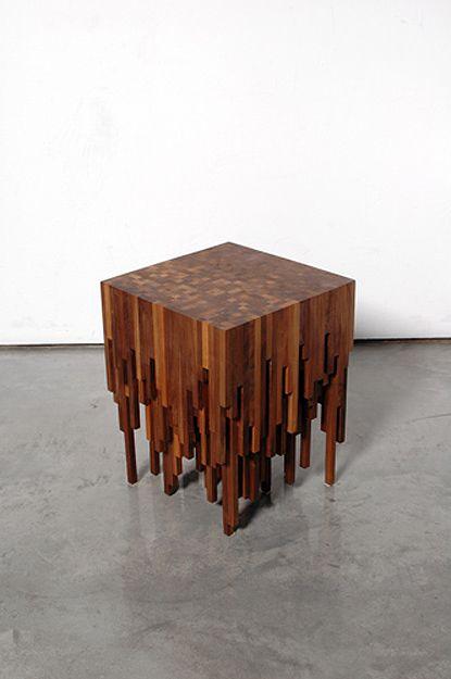 Hyme Table by Zachary Fluker tipoestalactitas madera capas mesa - mesitas de madera
