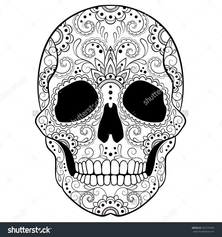 pin by arwa desouqy on skull coloring pages words