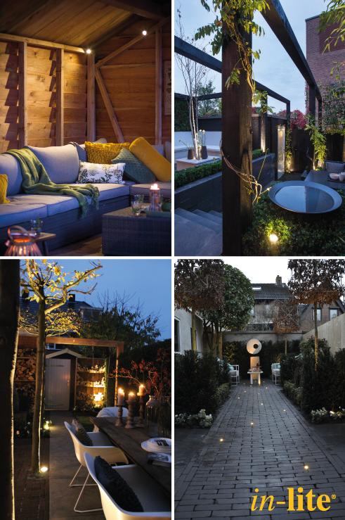 Overzicht sfeervol verlichte tuinen eigen huis tuin for Huis in tuin