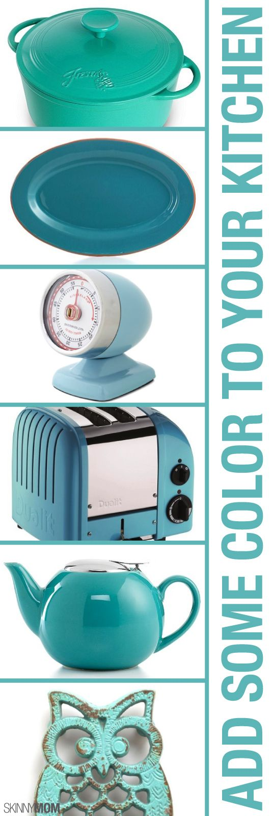 Brighten Your Blues With These Turquoise Kitchen Accessories!