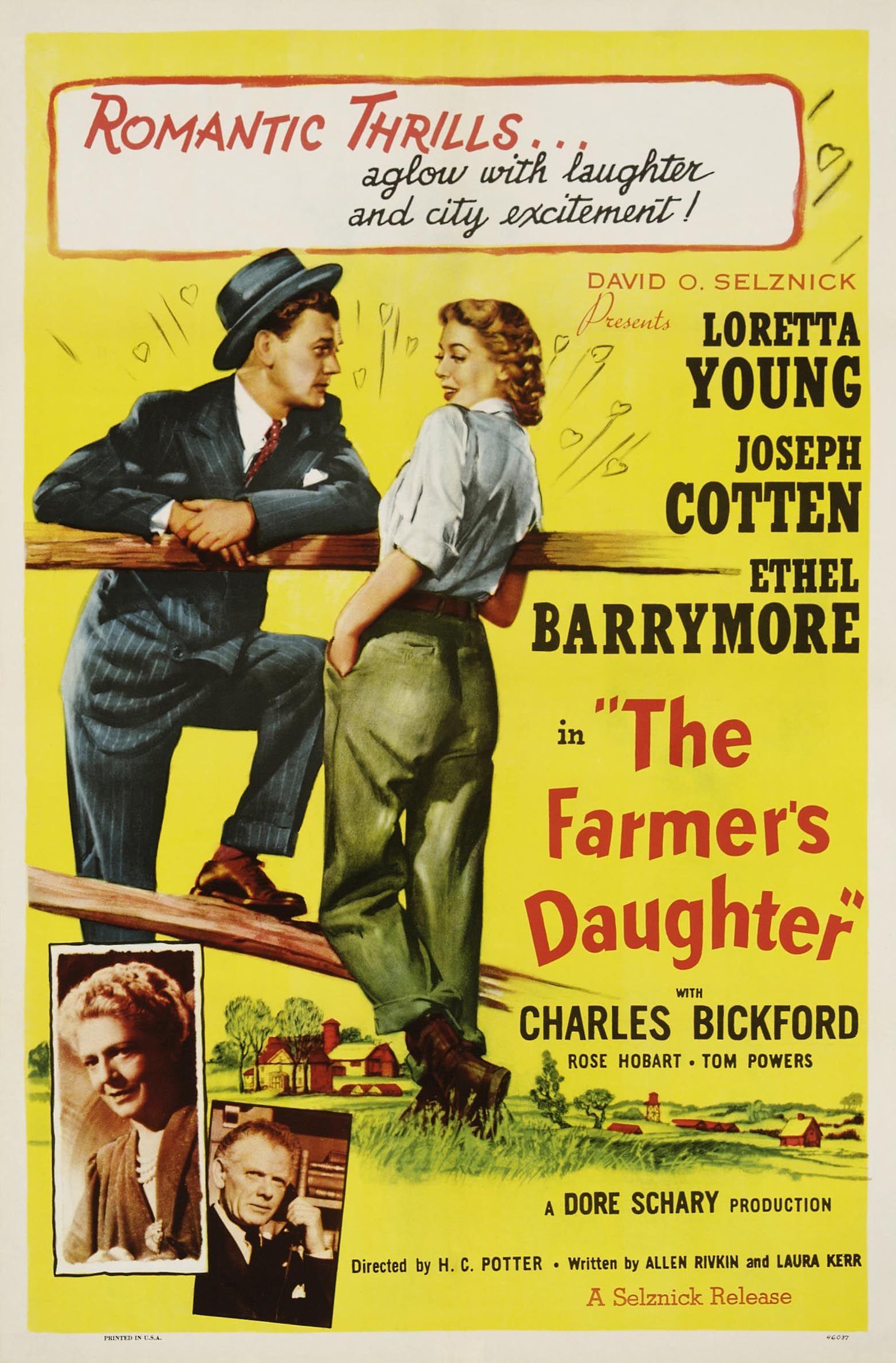 The farmer/'s daughter Loretta Young movie poster