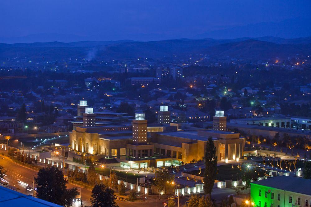 The Ismaili Center Dushanbe Tajikistan Night Time Dushanbe Tajikistan Night Time