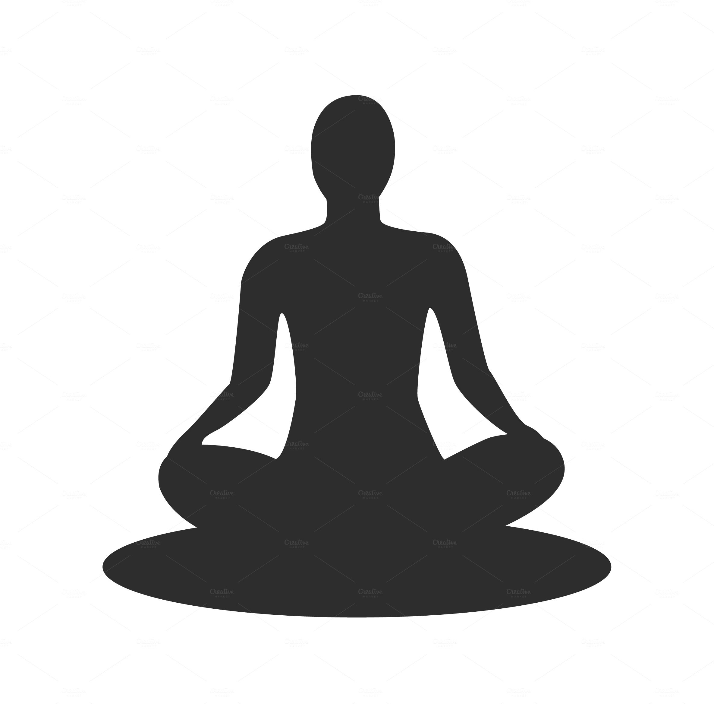 Silhouette Meditating Meditation Pose Drawing Silhouette Sillouette Art