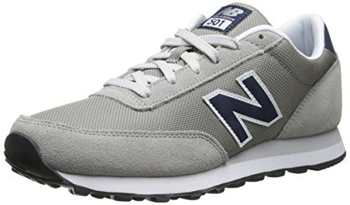 New Balance Men\u0027s ML501 Heritage Classic Running Shoe,Grey/Navy,9 D US