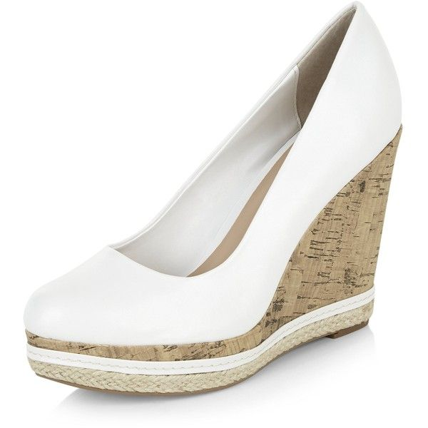 White wedge shoes, Espadrilles wedges