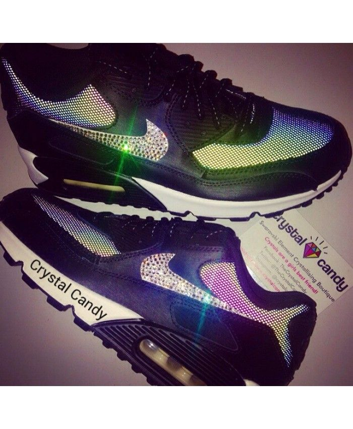 Nike Air Max 90 Crystal Candy Black White Trainer  97ea2a63f