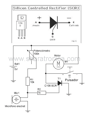Circuito activado por sonido diagrama esquemático. | Genius Ideas ...