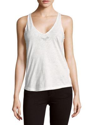 ZADIG & VOLTAIRE Hilda Cotton Tank Top. #zadigvoltaire #cloth #top