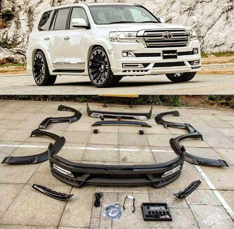 Wald Style With Light Body Kit For Land Cruiser 2016lc200 Nwe Design Land Cruiser Toyota Lc Toyota Land Cruiser Prado
