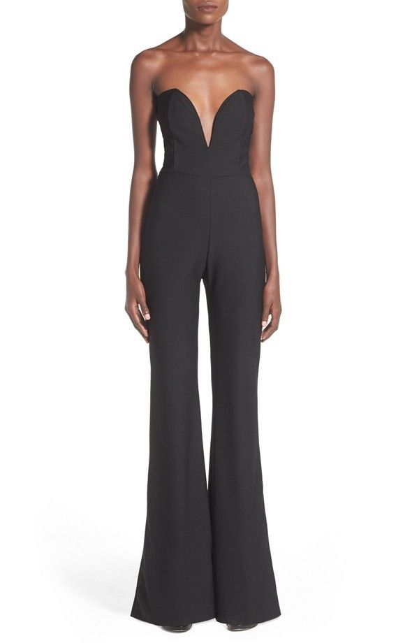 This sassy jumpsuit was made for flaunting your curves, with its plunging sweetheart neckline and tailored seams that highlight your bust and waist. @nordstrom
