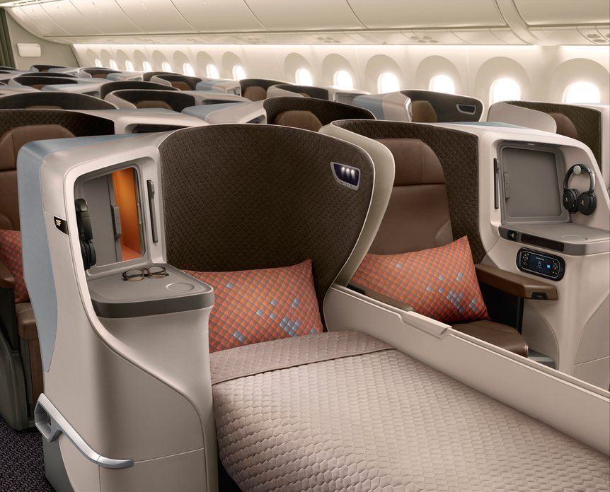Turkish Airlines new business class seat for Boeing 787