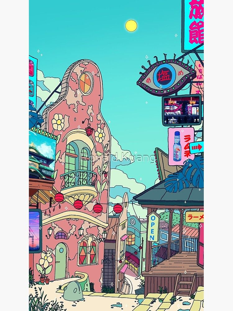 Spirited Away Chill Day Art Print By Seerstuff Redbubble In 2020 Studio Ghibli Background Hayao Miyazaki Movies Vaporwave Wallpaper